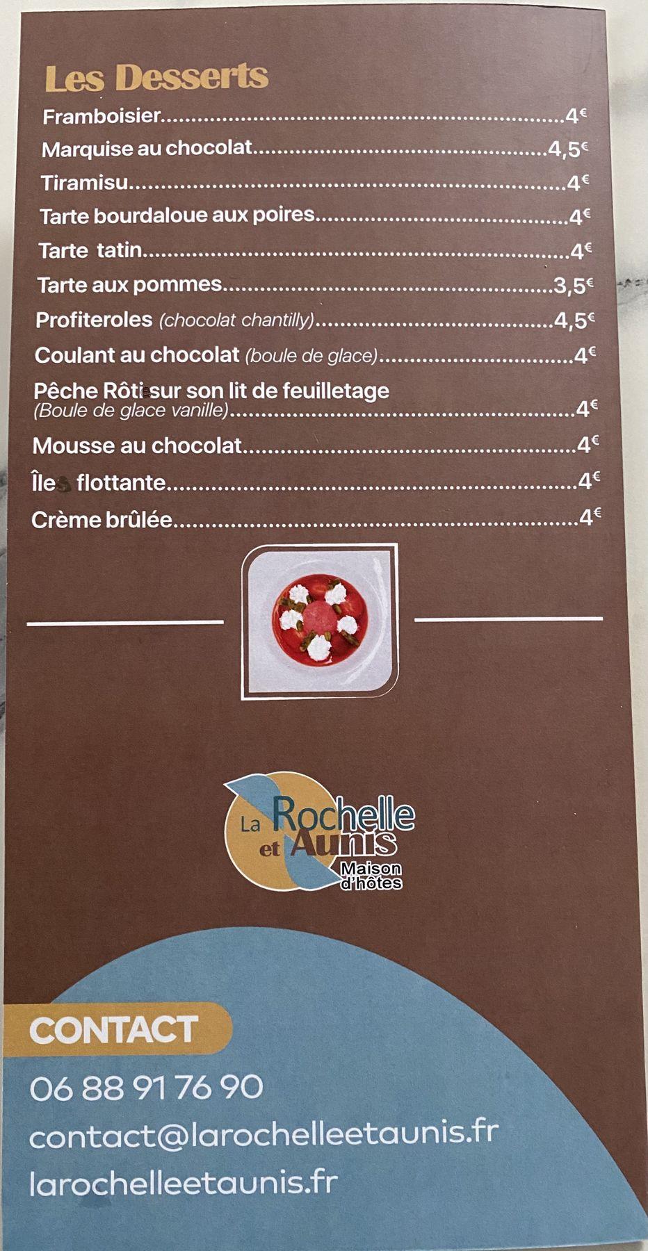 Restauration - Maison d'hôte La Rochelle et l'Aunis